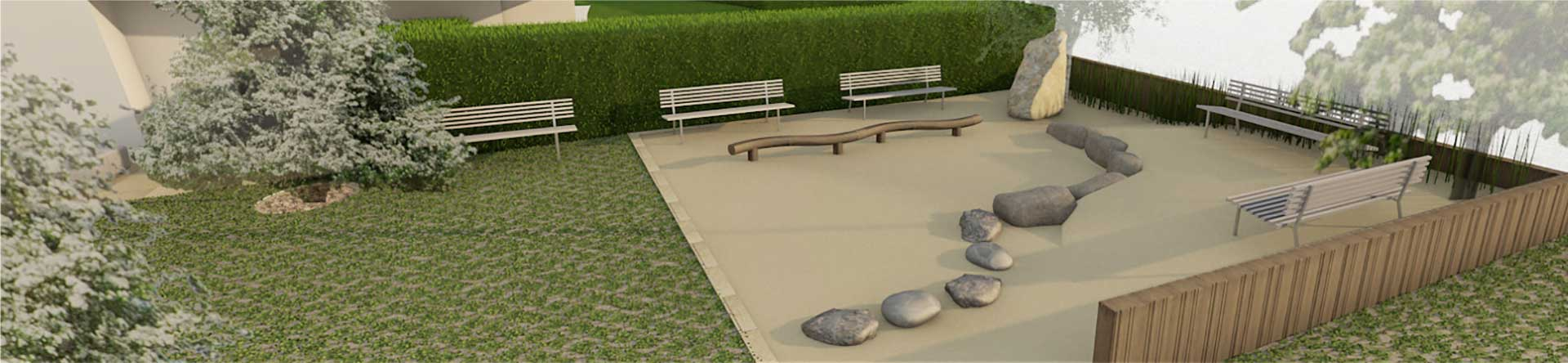 Design concept for the external areas