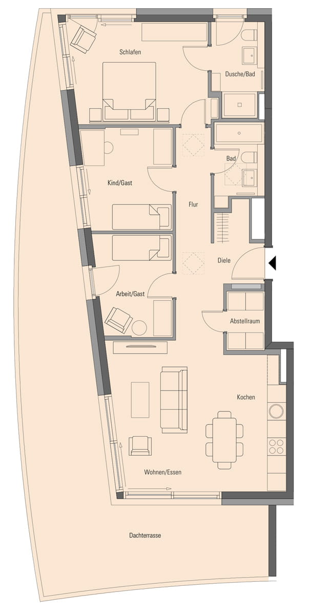 Apartment 2.3.9, 4 Rooms, 121.7 m²