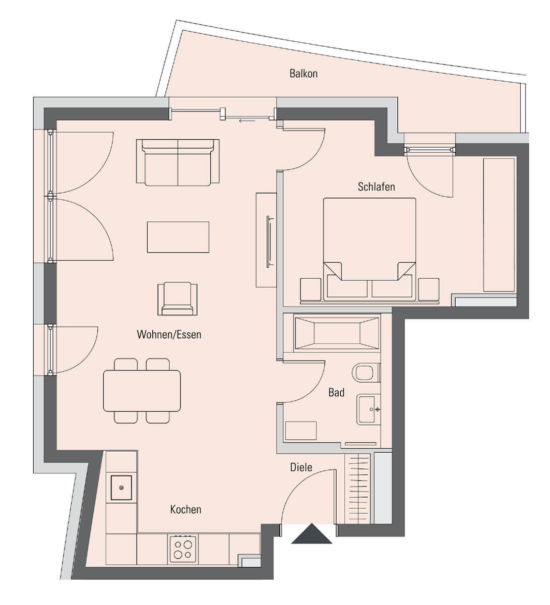 Apartment 4.2.9, 2 Rooms, 61.6 m²